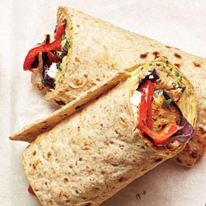 Grilled Veggie & Hummus Wraps
