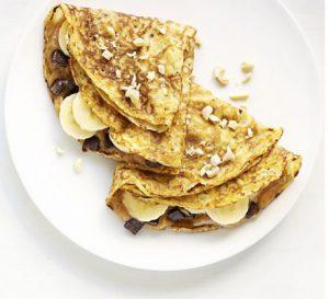 Choc Chip, Peanut Butter & Banana Pancake Filling