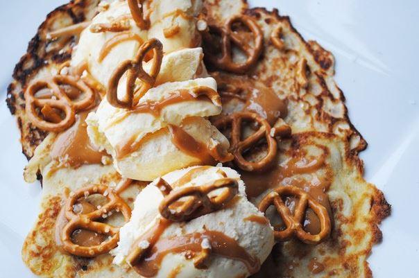Salted Caramel & Pretzel Pancake