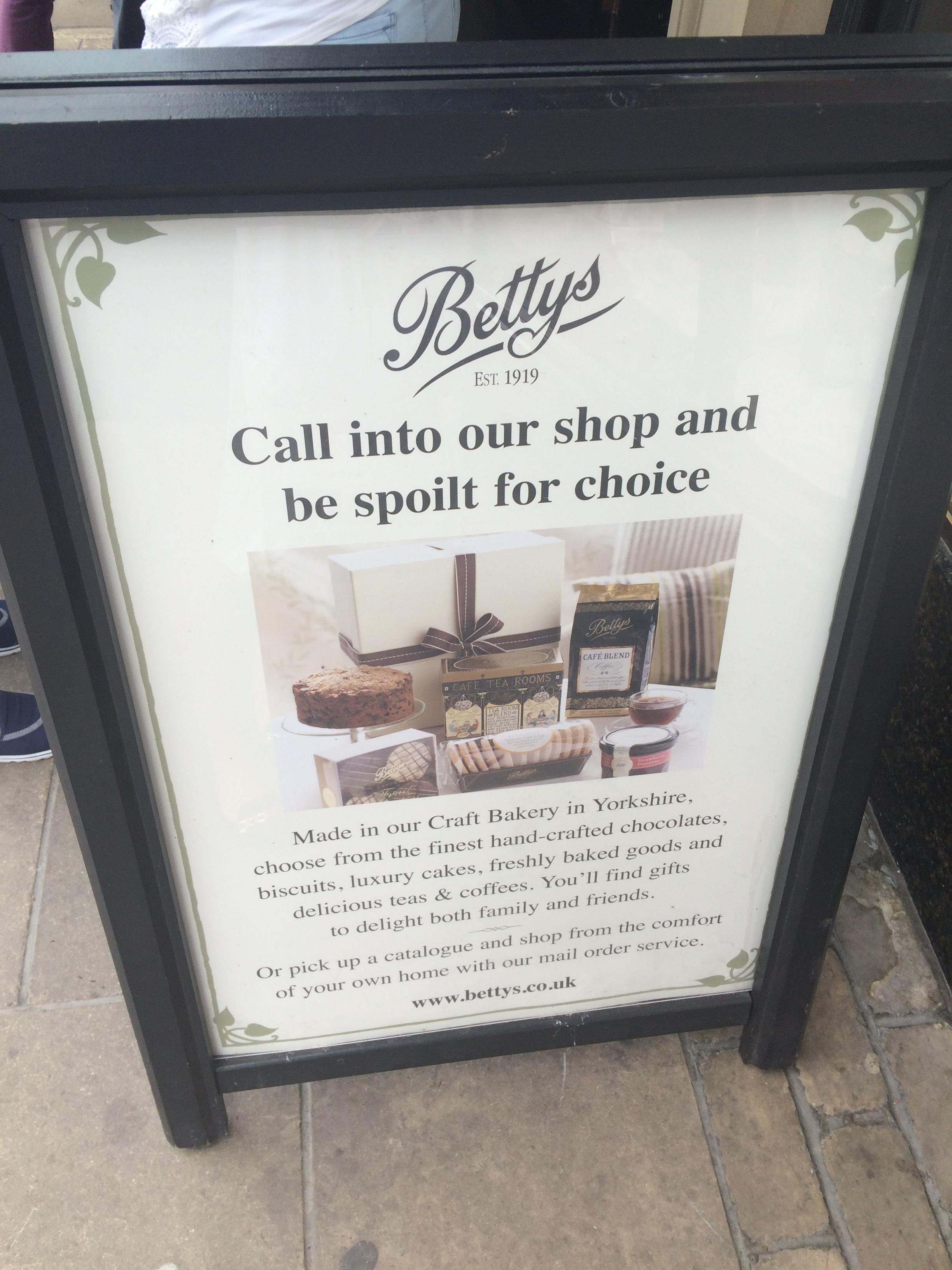 Bettys Tea Room Online