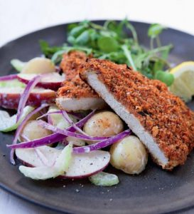 Crispy Pork Schnitzel with Potato Salad