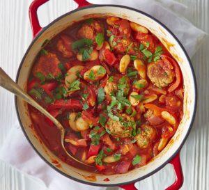 Spanish Meatball & Butter Bean Stew
